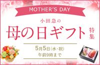 MOTHER'S DAY 小田急の母の日ギフト特集 5月5日(水・祝) 午前9時まで