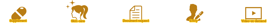 Supplement Skin care Document request Entry Video on demand